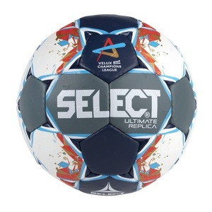 Hádzanárska lopta Select HB Ultimate Replica Champions League Men šedo modrá, Select