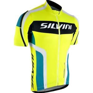 Pánsky cyklistický dres Silvini LEMME MD603 neon-ocean