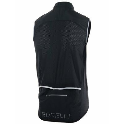 Cyklistická vesta Rogelli MOVE s priedušnými chrbtom, čierna 004.201, Rogelli