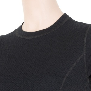 Dámske triko Sensor MERINO DOUBLE FACE čierne 15100017, Sensor