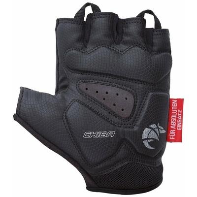 Cyklo rukavice Chiba GEL PREMIUM s gélovú dlaní, čierne 30117.10, Chiba