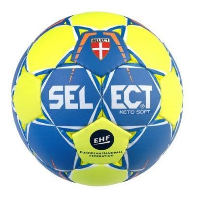 Hádzanárska lopta Select HB keto soft žlto modrá, Select