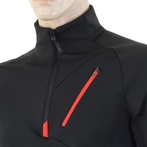 Pánska mikina Sensor Tecnostretch čierna červená 15200042, Sensor