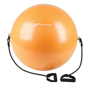 Gymnastický lopta s  expanderem  Spokey  ENERGICKÝ  65 cm vrátane pumpičky, Spokey