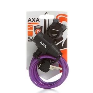 Zámok AXA Zipp 120/8 kľúč fialová 59712096SC, AXA