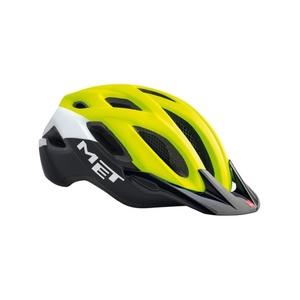 Helma MET Crossover reflexná žltá / biela / čierna, Met