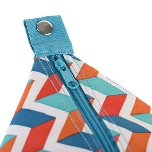 Plážová termo taška Spokey SAN REMO modrá zigzag, 52 x 20 x 40 cm, Spokey