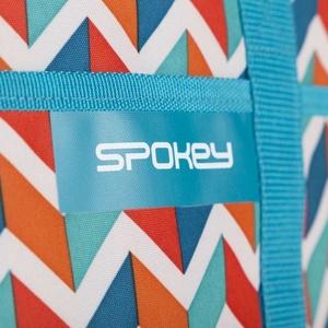 Plážová termo taška Spokey ACAPULCO modrá zigzag, 39 x 15 x 27 cm, Spokey