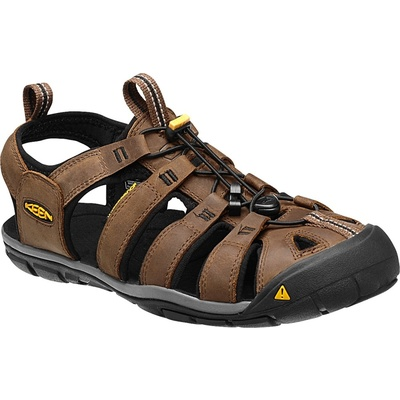 Sandále Keen CLEARWATER CNX Leather Muži tmaví zem/čierna, Keen