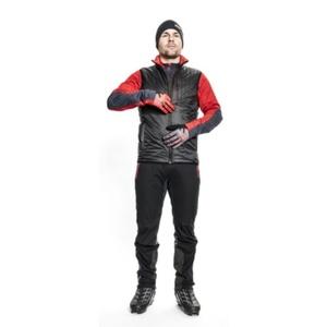 Pánska vesta Silvini TICINO MJ1104 black-red, Silvini