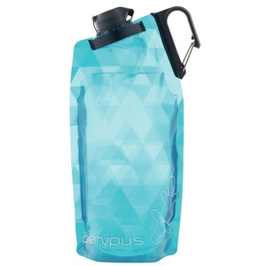 Fľaša Platypus DuoLock SoftBottle Blue Prisms 0,75 l, Platypus