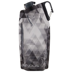 Fľaša Platypus DuoLock SoftBottle Gray Prisms 1 l, Platypus