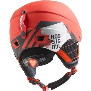 Lyžiarska helma Rossignol Comp J red-led RKFH504, Rossignol