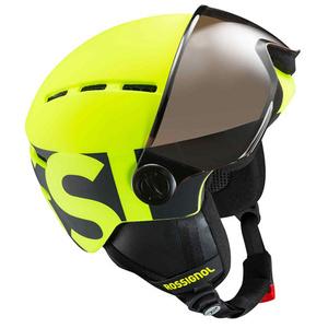 Lyžiarska helma Rossignol Visor Jr-neon yellow / black RKGH500, Rossignol