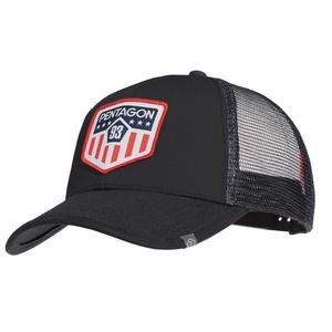 Šiltovka Era Trucker US Flag PENTAGON® Čierna, Pentagon