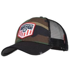 Šiltovka Era Trucker US Flag PENTAGON® US woodland, Pentagon