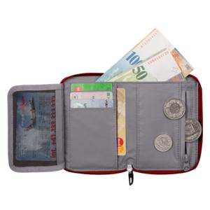 Peňaženka MAMMUT Zips Wallet melange Dark lava, Mammut