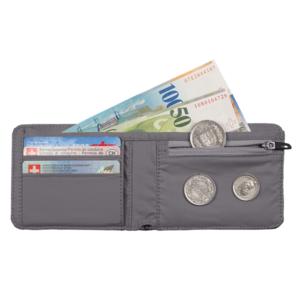 Peňaženka MAMMUT Flap Wallet melange Dark lava, Mammut