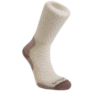 Ponožky Bridgedale Hike Lightweight Merino Comfort Boot Women's sand/929, bridgedale