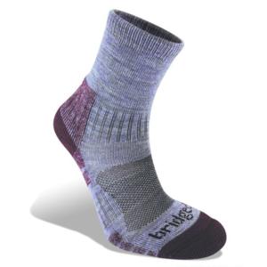 Ponožky Bridgedale Hike Lightweight Merino Performance Ankle Women's heather damson/814