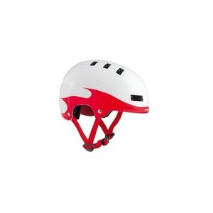 Detská helma MET YOYO plamene / červená / biela, Met