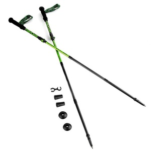 Trekingové palice 4-dílné Spokey SKY RUN ALU šedo-zelené, Spokey
