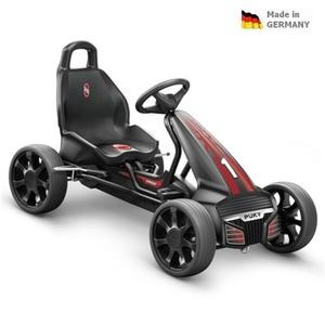 Detská šlapacia kára PUKY Go Cart Air F 550 čierno / červená, Puky