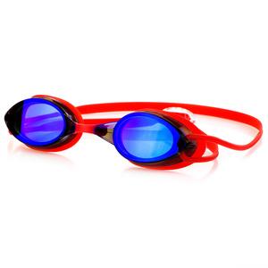Plavecké okuliare Spokey Sparky červené, zrkadlová sklá, Spokey