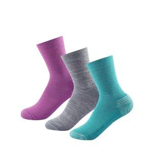 Detské ponožky Devold Daily Medium Kid Sock 3Pk Girl Mix SC 593 023 A 370A, Devold