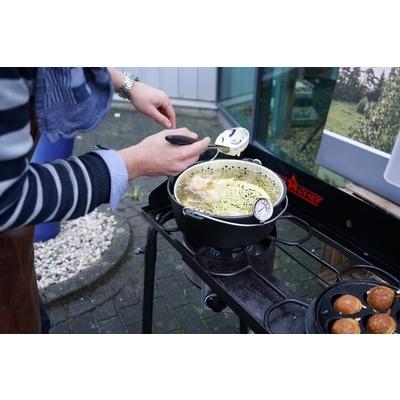 Liatinový hrniec Camp Chef 30 cm s pokrievkou a košom, Camp Chef