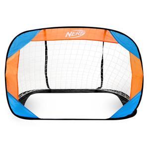 Samorozkládací futbalová bránka Spokey HASBRO Buckler NERF 2 ks modro-oranžová, Spokey