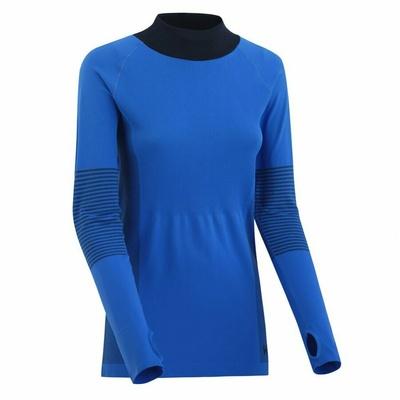 Dámske športové triko s dlhým rukávom Kari Traa Sofie 622041, modrá