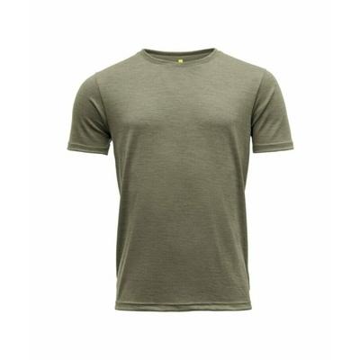 Pánske vlnené tričko s krátkym rukávom Devold Eika GO 181 280 B 404A zelená