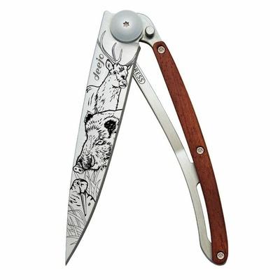 vreckový nôž Deejo 1CB067 Tattoo 37g, Ebony Wood Zen, Deejo