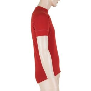 Pánske triko Sensor MERINO DOUBLE FACE tm. červená 18200044, Sensor