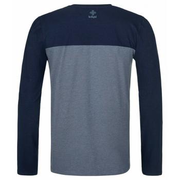 Pánske tričko s dlhým rukávom Kilpi DRUMON-M tmavo šedá, Kilpi