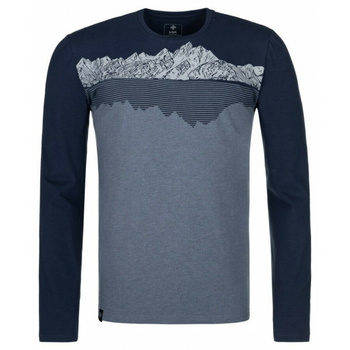 Pánske tričko s dlhým rukávom Kilpi DRUMON-M tmavo šedá