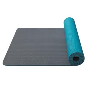 Podložka na jógu Yoga Mat dvojvrstvová materiál TPE tyrkys / šedá, Yate
