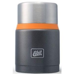 Vákuová termoska na jedlo z nerez ocele Esbit Lux s lyžičkou 0,75 l Grey / Orange FJ750SP-GO
