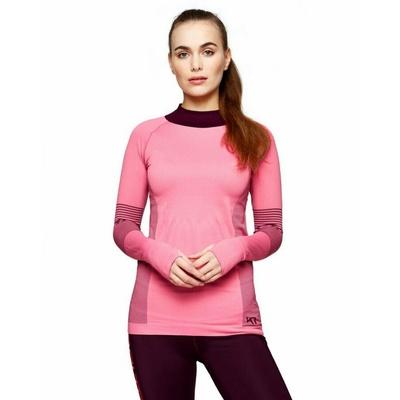 Dámske športové tričko s dlhým rukávom Kari Traa Sofie 622041, ružová, Kari Traa