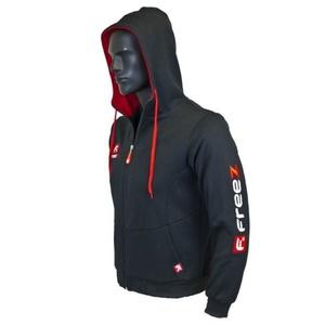 Športové mikina FREEZ VICTORY ZIP HOOD black / red junior, Freez