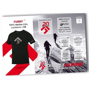 Tričko Direct Alpine Furry black (brand 20 let), Direct Alpine