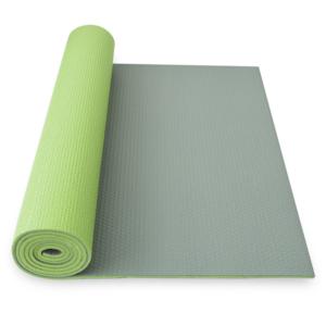 Podložka na jógu YATE yoga mat dvojvrstvová zelená / sivá, Yate