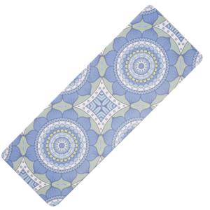 Podložka na jógu YATE yoga mat prírodný guma / vzor B / modrozelená, Yate