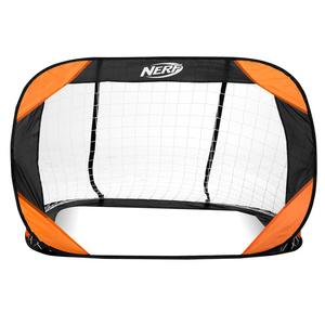 Samorozkládací futbalová bránka Spokey HASBRO Buckler NERF 2 ks čierno-oranžová, Spokey