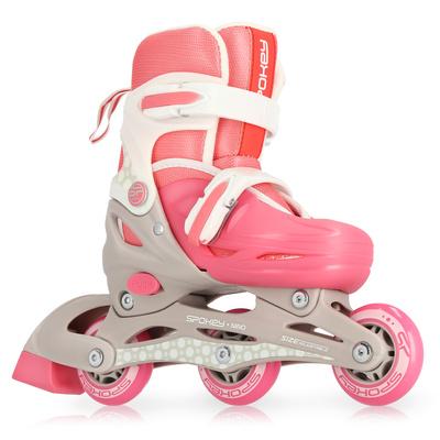 Detské kolieskové korčule Spokey NINO bielo-ružové, ABEC1 Carbon, Spokey