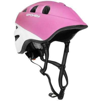 Detská cyklistická prilba Spokey CHERUB IN-MOLD, 48-52 cm, ružovo-biela, Spokey