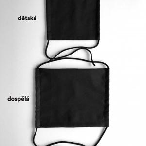 jednofarebná bavlnená rúško KAMA s vreckom na filter, Kama