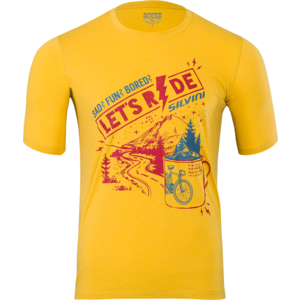 Pánske MTB triko Silvini Berici MD1614 yellow-merlot, Silvini
