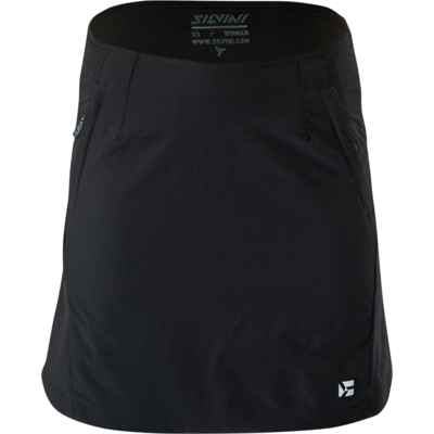 Dámska cyklistická sukňa Silvini Invia WS1624 black